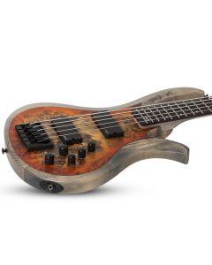 Schecter RIOT-5 Electric Bass in Satin Inferno Burst