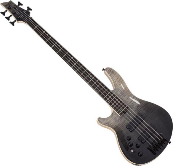 Schecter SLS ELITE-5 Left Hand Electric Bass in Black Fade Burst