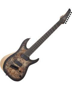 Schecter Reaper-7 Multiscale Electric Guitar in Satin Charcoal Burst SCHECTER1509