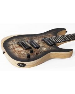 Schecter Reaper-7 Multiscale Electric Guitar in Satin Charcoal Burst