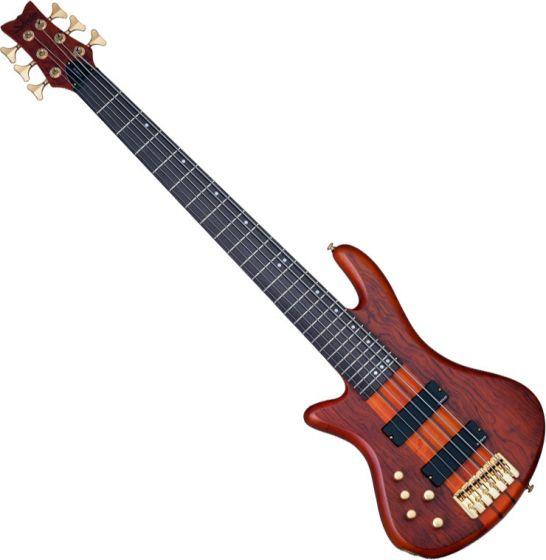 Schecter Stiletto Studio-6 Left-Handed Electric Bass Honey Satin