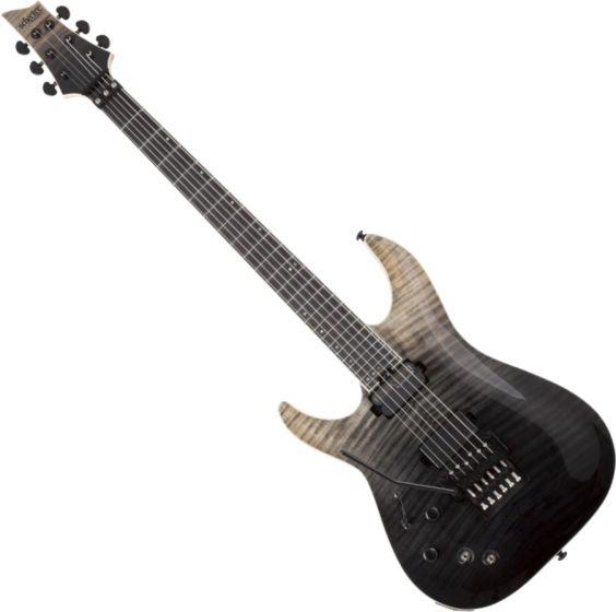 Schecter C-1 FR-S SLS Elite Left Hand Electric Guitar in Black Fade Burst