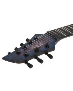 Schecter MK-7 MK-III Left Handed Electric Guitar in Trans Black Burst