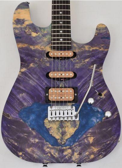 Schecter CET Custom USA Masterwork Guitar with Buckeye Burl Stabilized Top