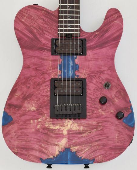 Schecter PT Masterwork Custom Guitar with Buckeye Burl Stabilized top