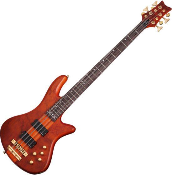 Schecter Stiletto Studio-8 Electric Bass Honey Satin