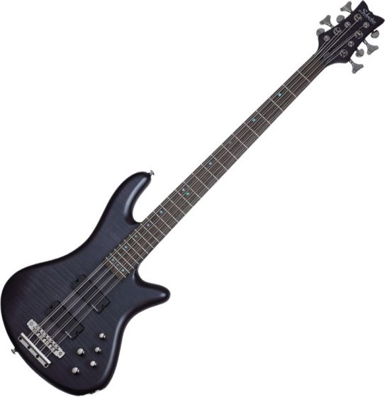 Schecter Stiletto Studio-8 Electric Bass See-Thru Black Satin