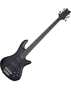 Schecter Stiletto Studio-8 Electric Bass See-Thru Black Satin  SCHECTER2742