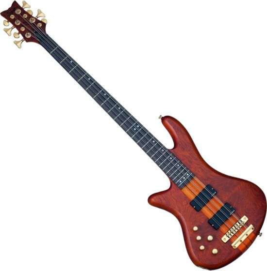 Schecter Stiletto Studio-8 Left-Handed Electric Bass Honey Satin