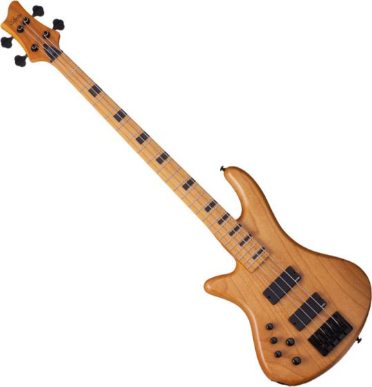 Schecter Session Stiletto-4 Left-Handed Electric Bass in Aged Natural Finish