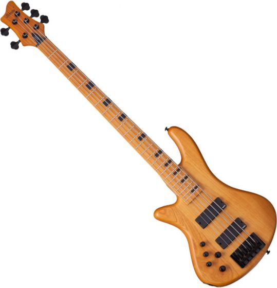 Schecter Session Stiletto-5 Left-Handed Electric Bass in Aged Natural Finish