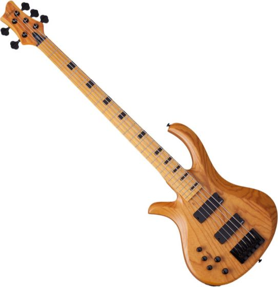 Schecter Session Riot-5 Left-Handed Electric Bass in Aged Natural Finish