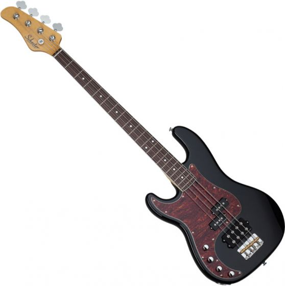 Schecter Diamond-P Plus Left-Handed Electric Bass in Gloss Black Finish