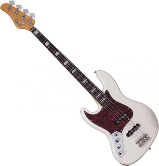Schecter Diamond-J Plus Left-Handed Electric Bass in Ivory Finish