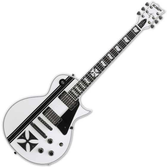 ESP Iron Cross Snow White James Hetfield Guitar with Case